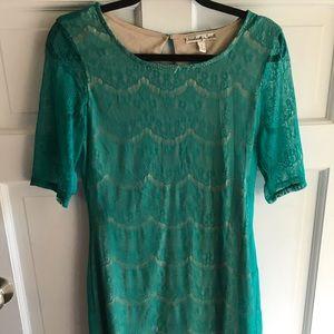 Tourqouise Lace Dress- Belk- M/L